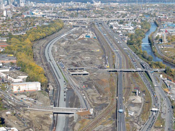 Projet Turcot, secteur Ouest, echangeur de l'ouest le 14 Octobre 2016.